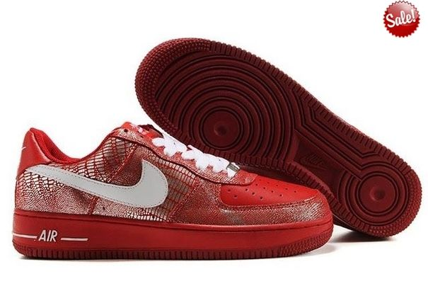 2014 Serpent Rouge Blanc 1 Chaussure Nike Air Force One 25th Low ...