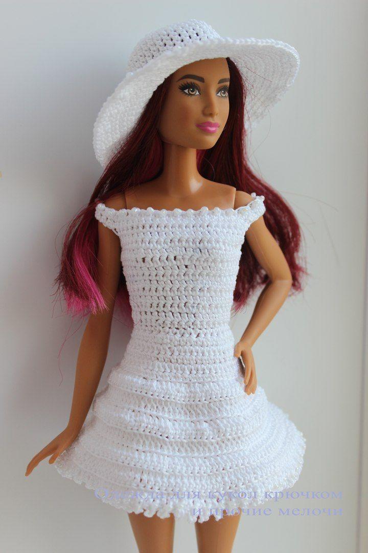 Одежда для кукол крючком и прочие мелочи | VK | barbies | Pinterest