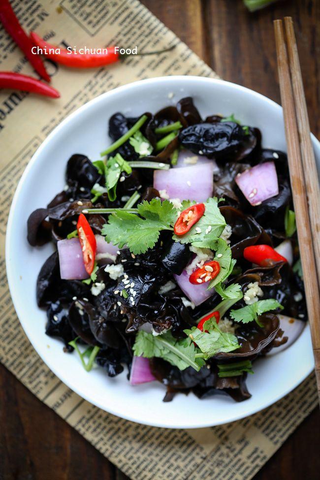Wood ear mushroom salad recipe mushrooms salad and food wood ear mushroom salad asian food recipesasian forumfinder Image collections
