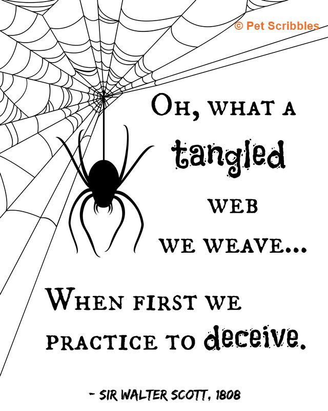 Image result for oh what a tangled web we weave images