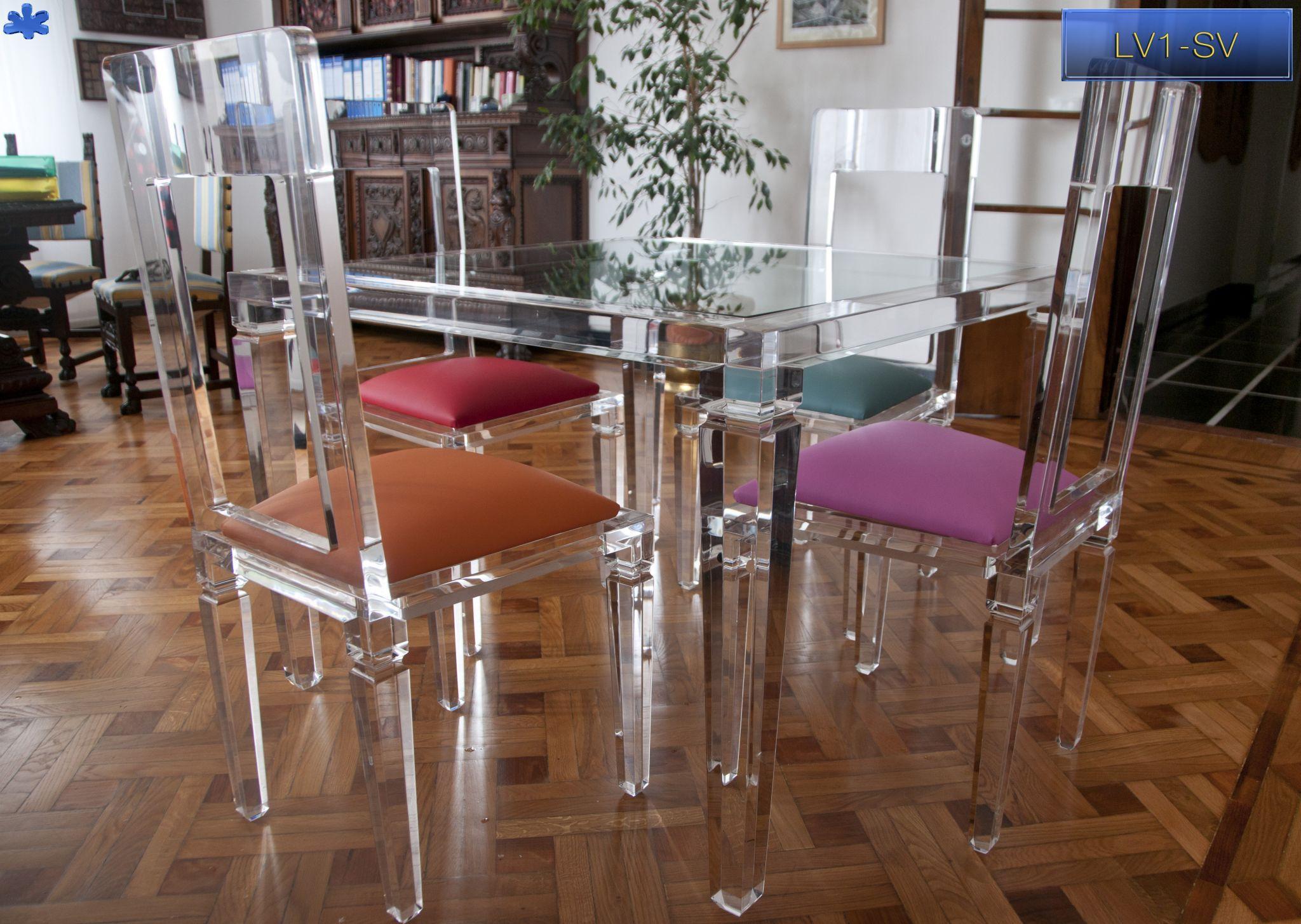 SEDIE IN PLEXIGLAS | Muebles de acrílico, Muebles, Adornos