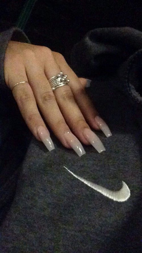 clear, long, and design image | nail art.! | Pinterest | Nail inspo ...