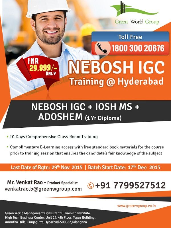 Pin By Green World Group On Nebosh Course In Hyderabad Pinterest