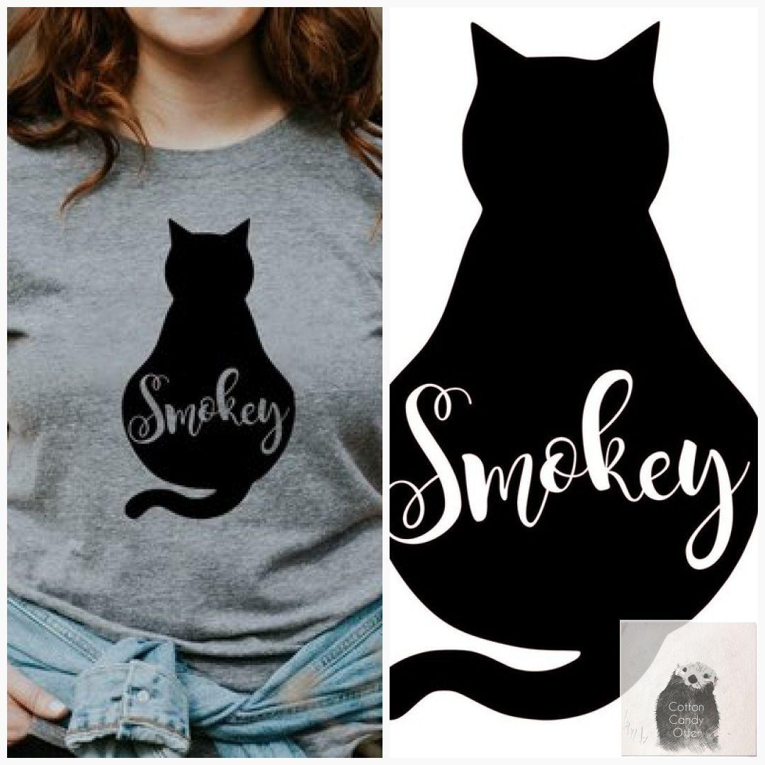 ddf8500c9 Personalized Cat Tee Your Cats Name Women's T-Shirt S M L Xl Cat Mom Custom  Custom Personalized #TShirt #WomensClothes #custom #CatClothes #KittyCat ...