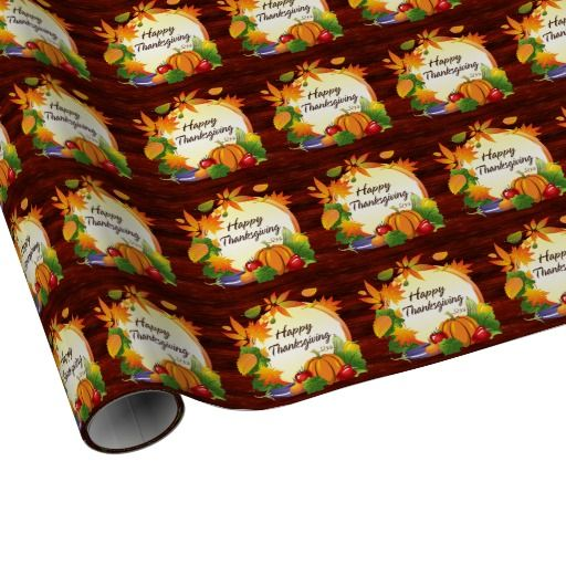 Happy Thanksgiving 5A Wrapping Paper Options