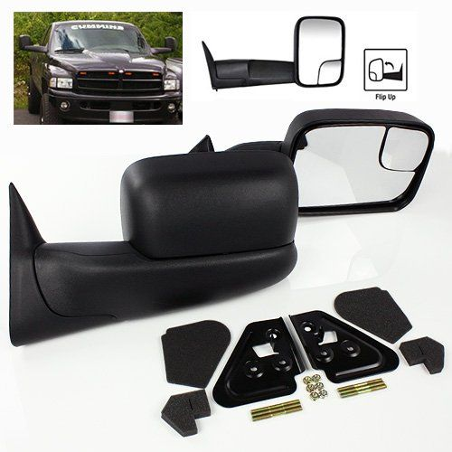 Modifystreet Power Heated Flip Up Side Towing Mirrors For 1998 2001 Dodge Ram 1500 Or 1998 2002 Dodge Ram 2500 3500 Dodge Ram 1500 Towing Mirrors Dodge Ram