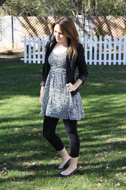 Mini Dress with Leggings