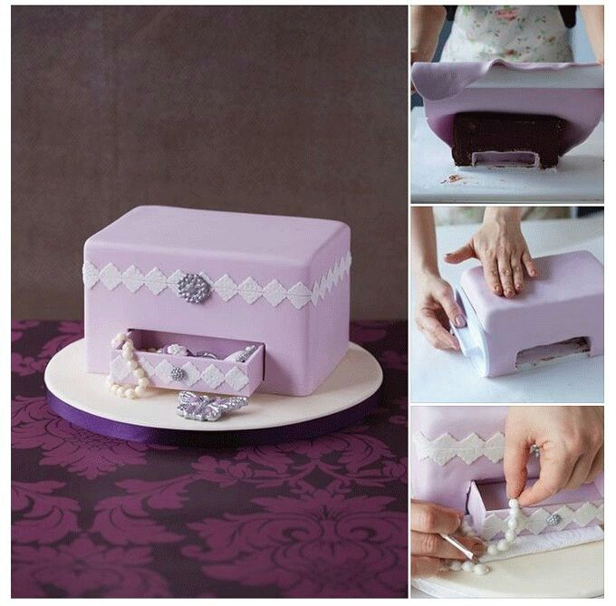 Jewelry Box Picture Tutorial | Cake tutorial, Cake shapes ...