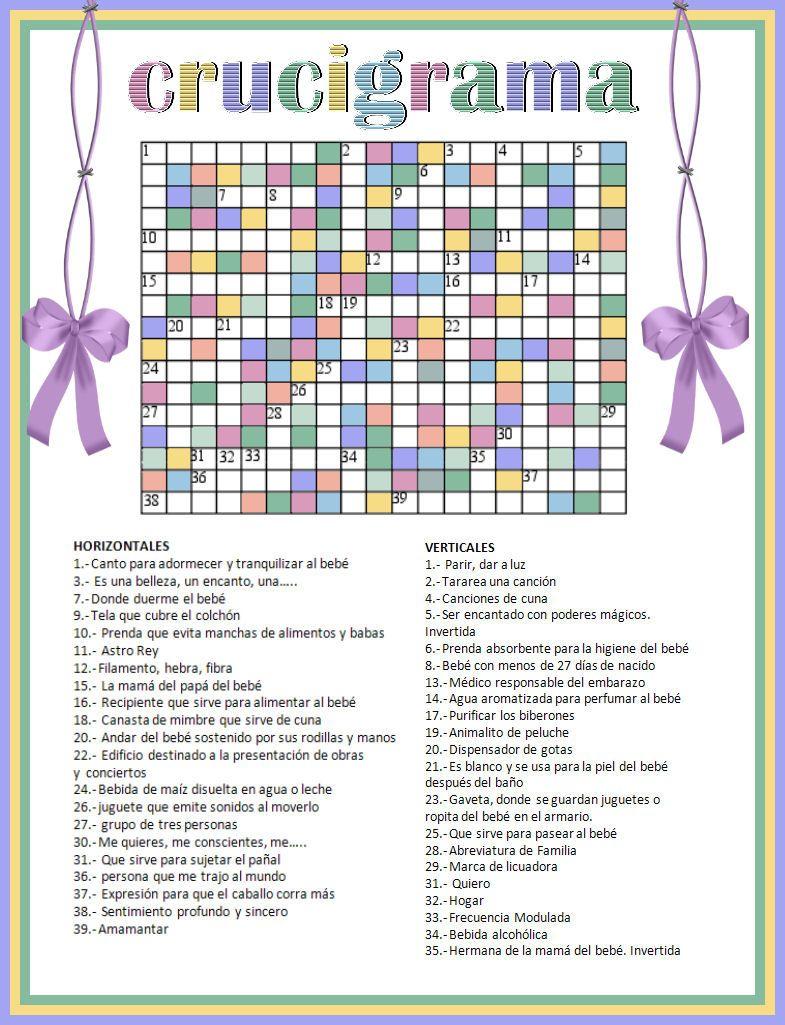 Juegos Para Baby Shower Con Respuestas Mossita Bella Crochet Y