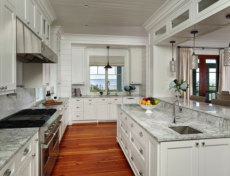 The Right Side Faces My Dining Room The Back Wall Opens To Living Room And The Left Wall Faces Back Kitchen Design Solid Wood Kitchen Cabinets Shiplap Kitchen