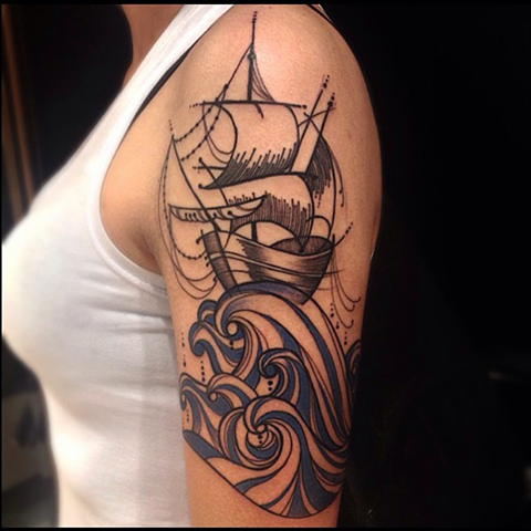 Log In Or Sign Up Waves Tattoo Tattoos Sleeve Tattoos