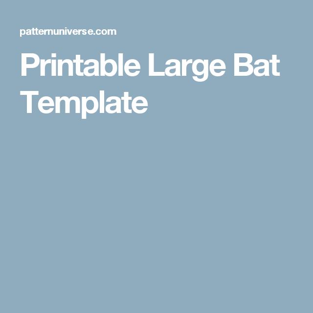 Printable Large Bat Template | Art | Pinterest | Bat template, Bat ...