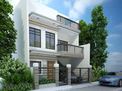 Modern House Designs Series MHD 2014010 Features A 4 Bedroom 2 Story House  Design.
