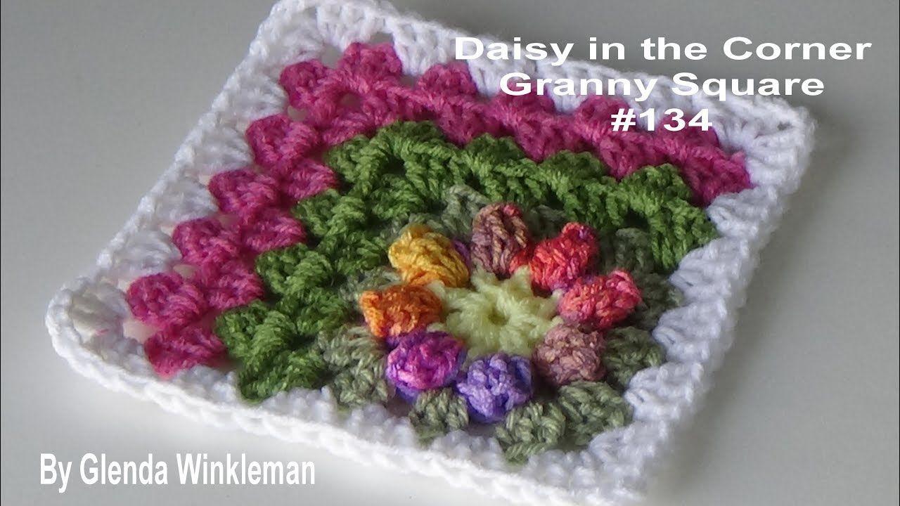 Daisy in the Corner Granny Square - Crochet Tutorial | crochet ...