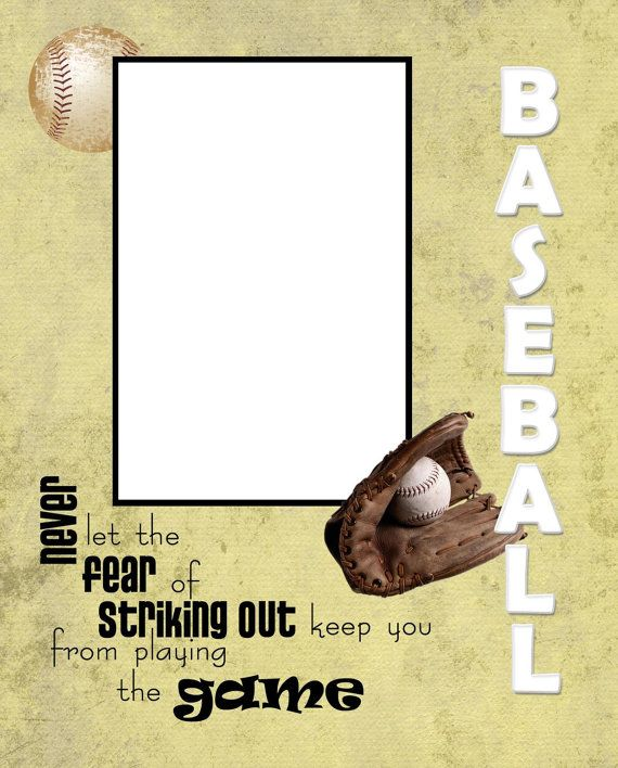8x10 baseball inspired picture frame