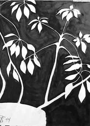Positive Negative Space Drawing Shape Form Space Pinterest
