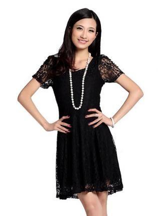 HEGO Short-sleeved Lace Dress MKLleis05H,  Dress, Short-sleeved Lace Dress, Chic
