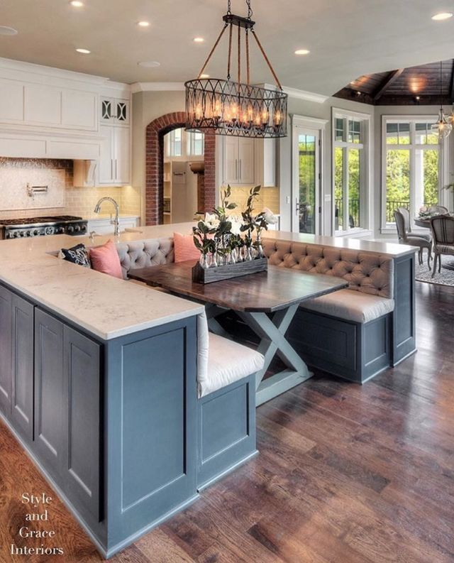 Pinterest тσяι αιѕуяσѕє Kitchen Island With Bench Seating Home Kitchens Kitchen Inspirations