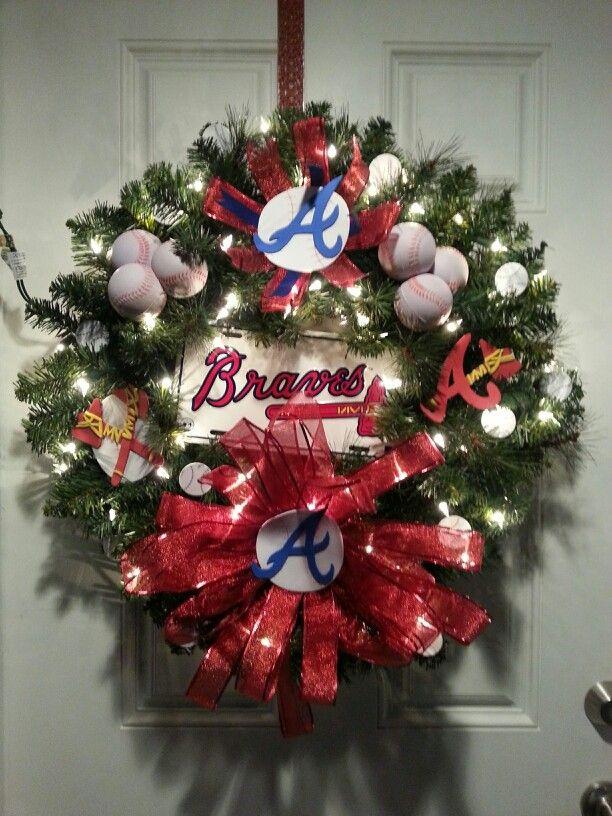 My Atlanta Braves Christmas wreath! - My Atlanta Braves Christmas Wreath! Atlanta Braves Atlanta