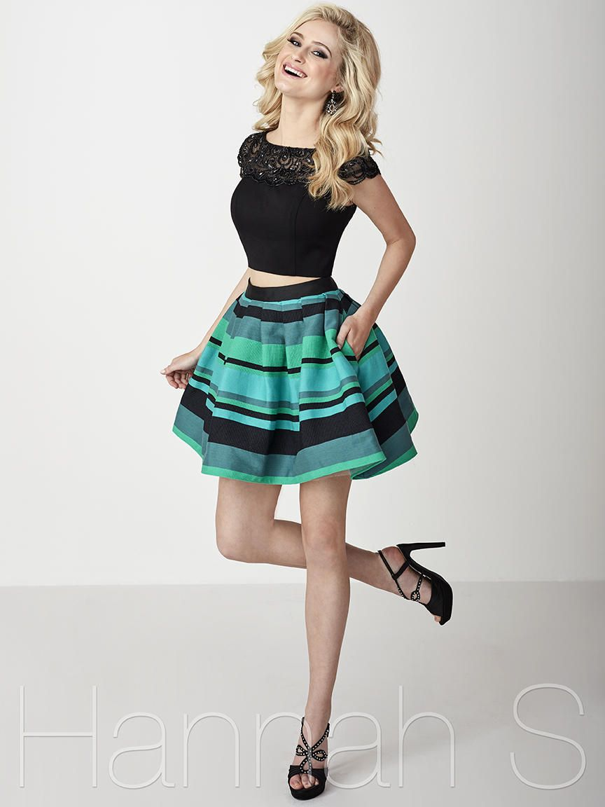 Hannah s is a twopiece style short homecoming dress with