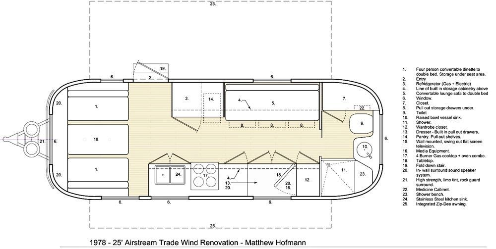 Image Result For Floor Plans For A 25ft Airstream Floor Plans Bathroom Layout Airstream Bathroom