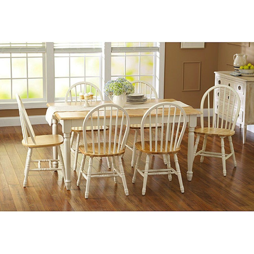 Fortune bliss 7 piece wooden table with 6 chairs
