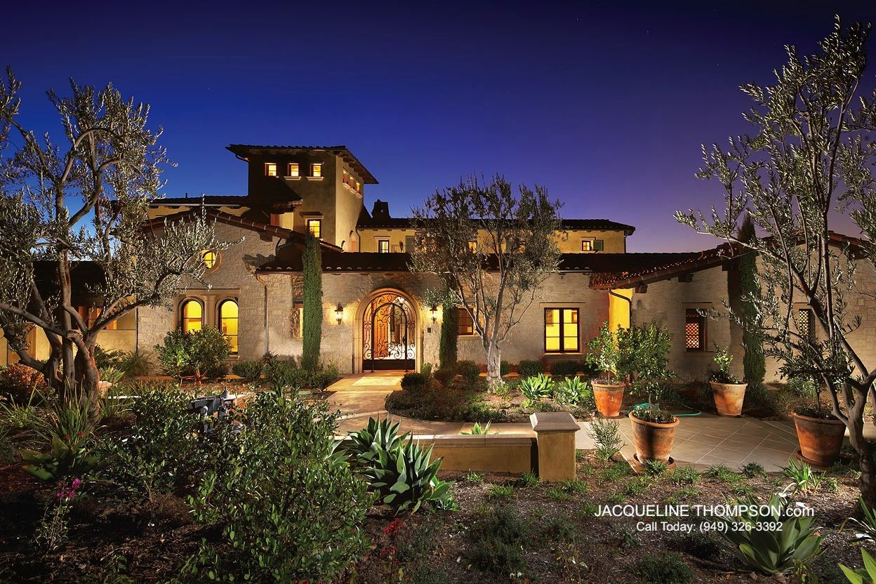 Rustic Provence exterior in Shady Canyon, Irvine, CA