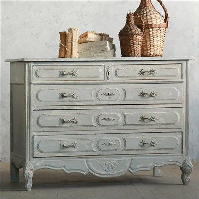 Eloquence One of a Kind Antique Commode Gustavian Grey