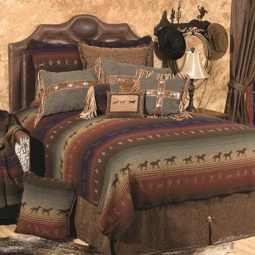Wooded River Mustang Canyon Bedding By Wooded River Bedding Comforters Comforter Sets Duvets Bedspr Western Bedding Sets Western Bedroom Western Home Decor
