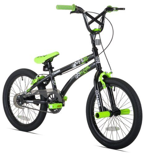 Amazon Com X Games Fs 18 Boys Bike 18 Inch Wheels Black Green Childrens Bicycles Sports Outdoors Boy Bike Bmx Bikes Bicycle