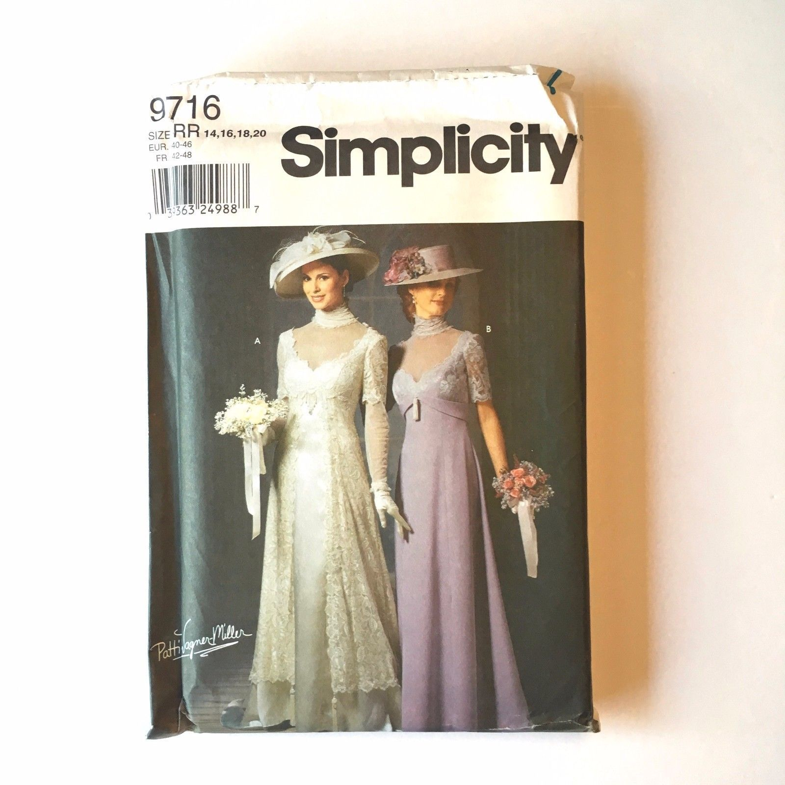 Simplicity 9716 Edwardian Titanic Wedding Gown Dress Hat Costume 14 ...