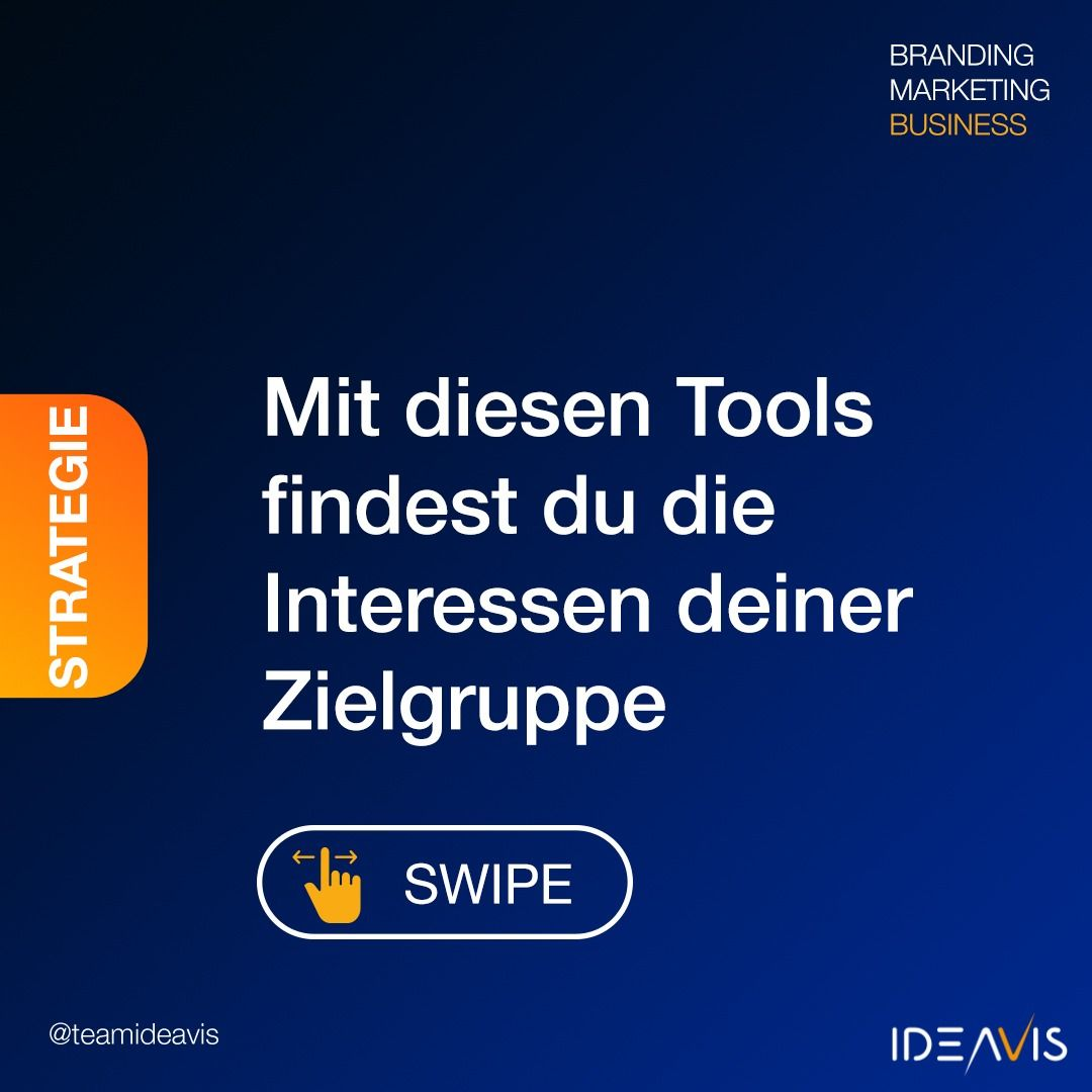 Mit diesen Tools, findest du die Interessen deiner Zielgruppe heraus. #interessen