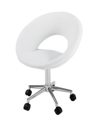 Dwell Retro Circles Home Office Chair White 129 White Office Chair Office Chairs For Sale Ikea Desk Chair