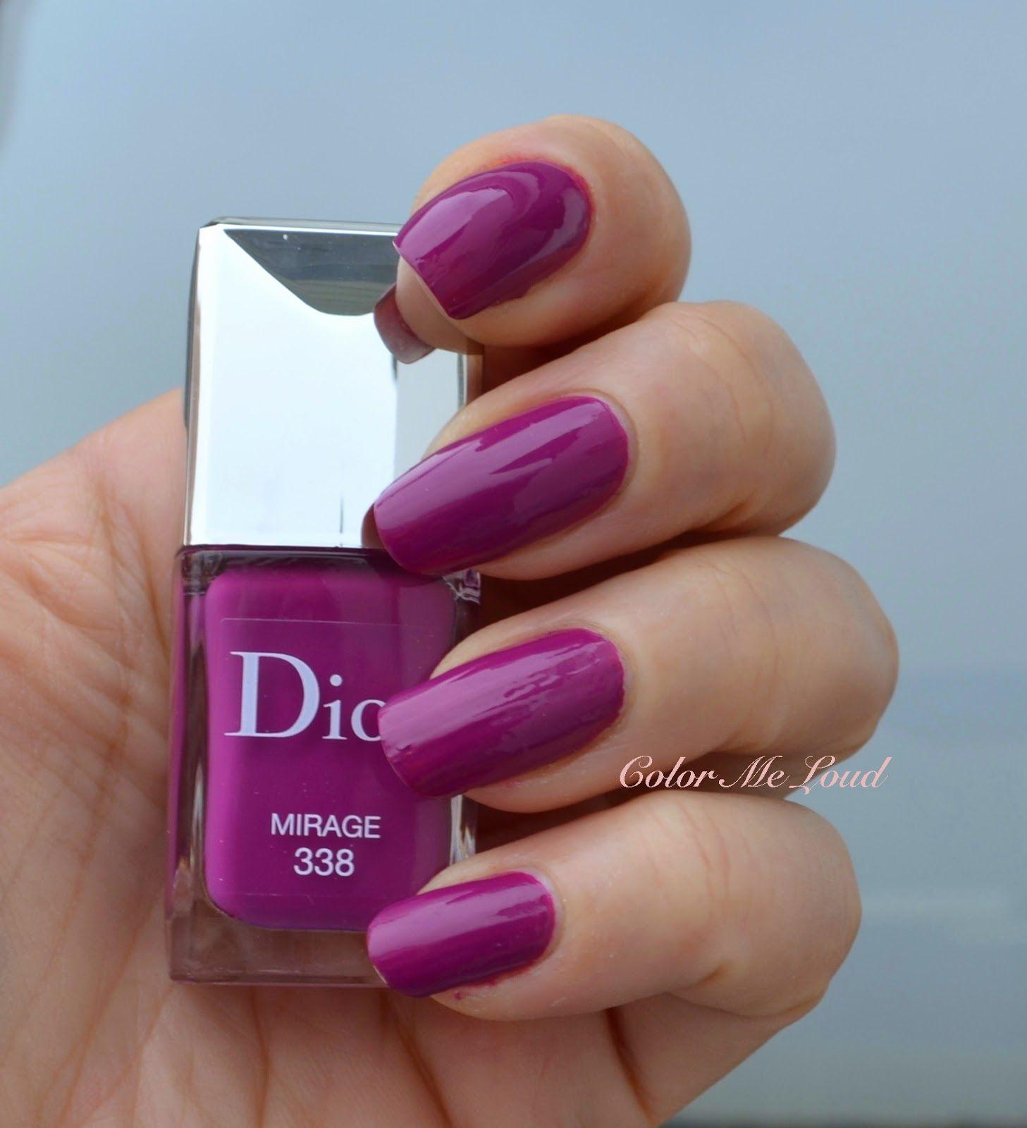 Dior 338 Mirage is such a great magenta nail polish. | Nail Polish I ...