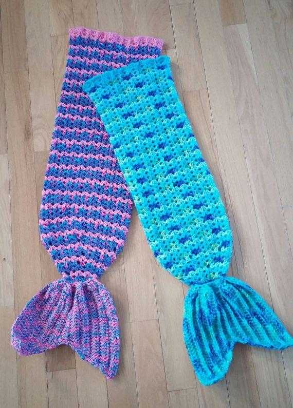 Child Size Crochet Mermaid Tail Snuggle Sack PATTERN, Mermaid Tail ...