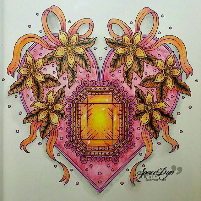 Stunning colouring page by spacedyn using their Chameleon