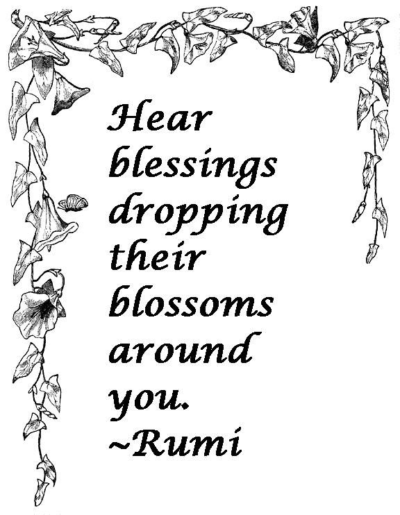 Image result for rumi quotes blessings