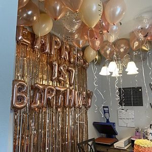 Blush and Rose Gold Balloons | Rose Gold and Chrom