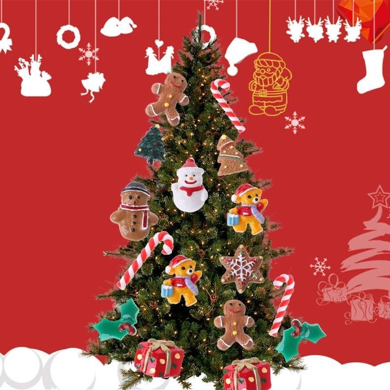 Including Santa Claus Snowman Gingerbread Man Bear Gift Box And Many Other Styles To C Christmas Tree Ornaments Christmas Tree Decorations Tree Decorations