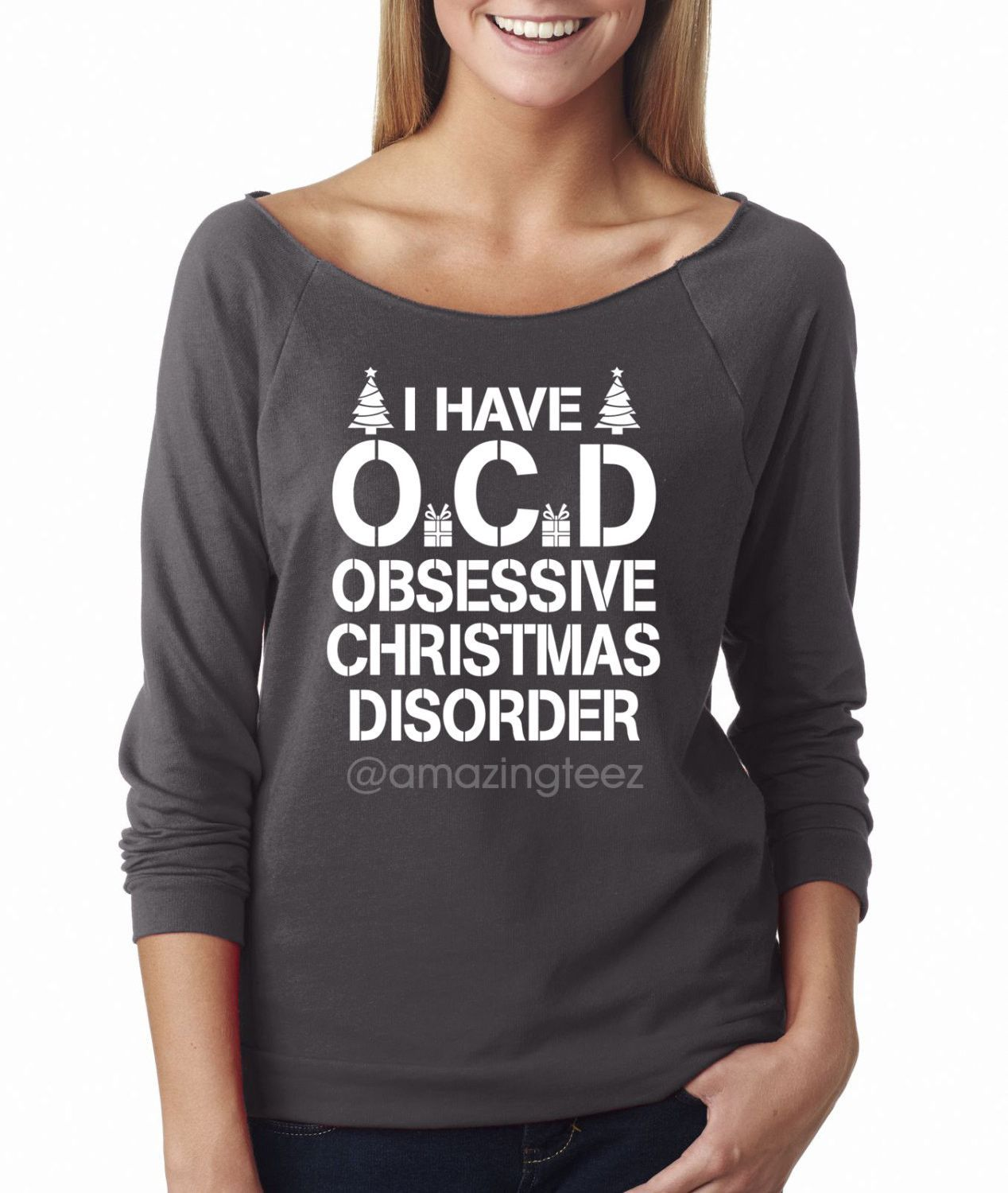 I Have OCD Obsessive Christmas Disorder. Merry Christmas. Santa ...