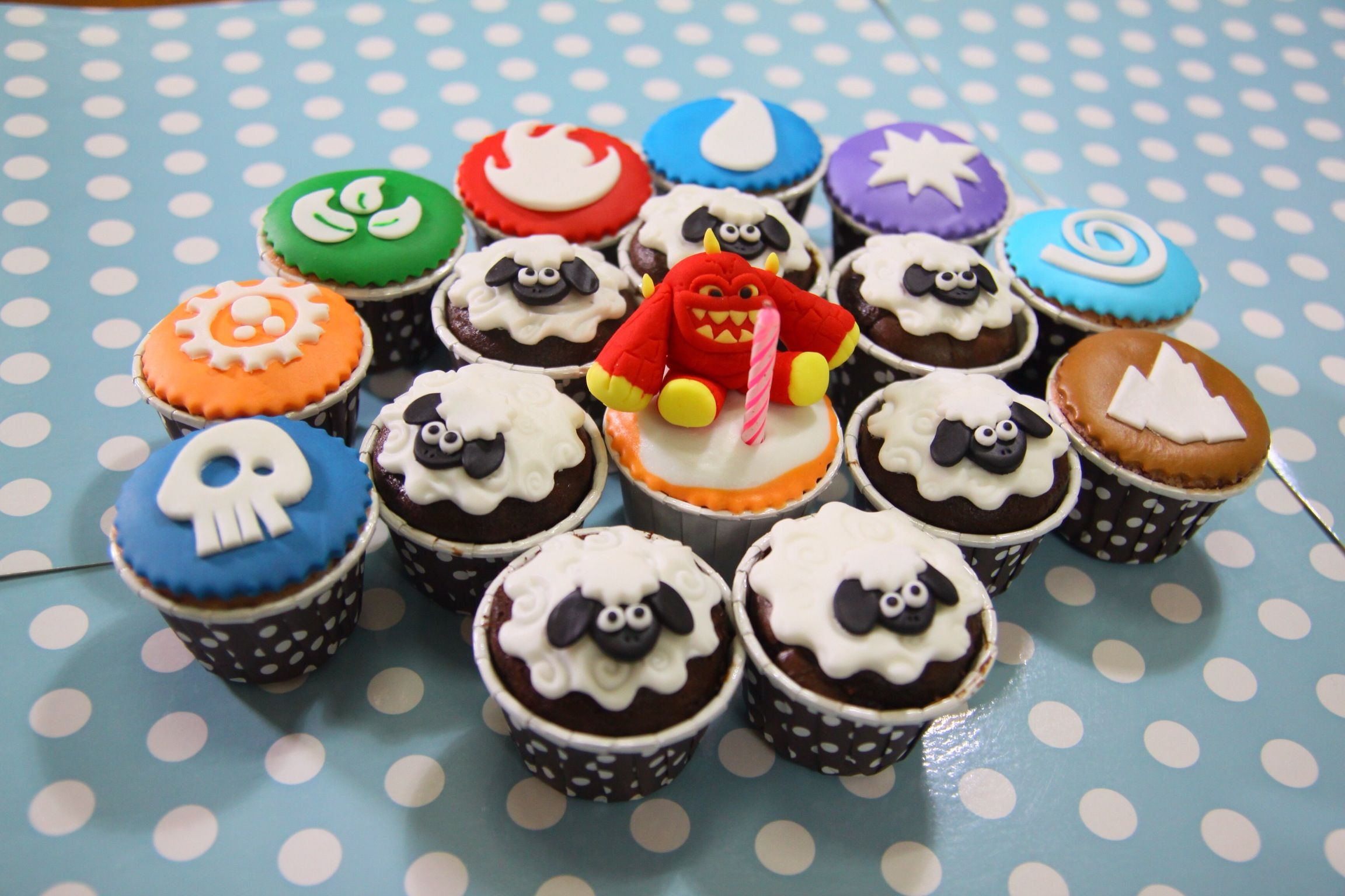 Skylanders Sheep Creep And Elemets Cupcakes Birthday Ideas