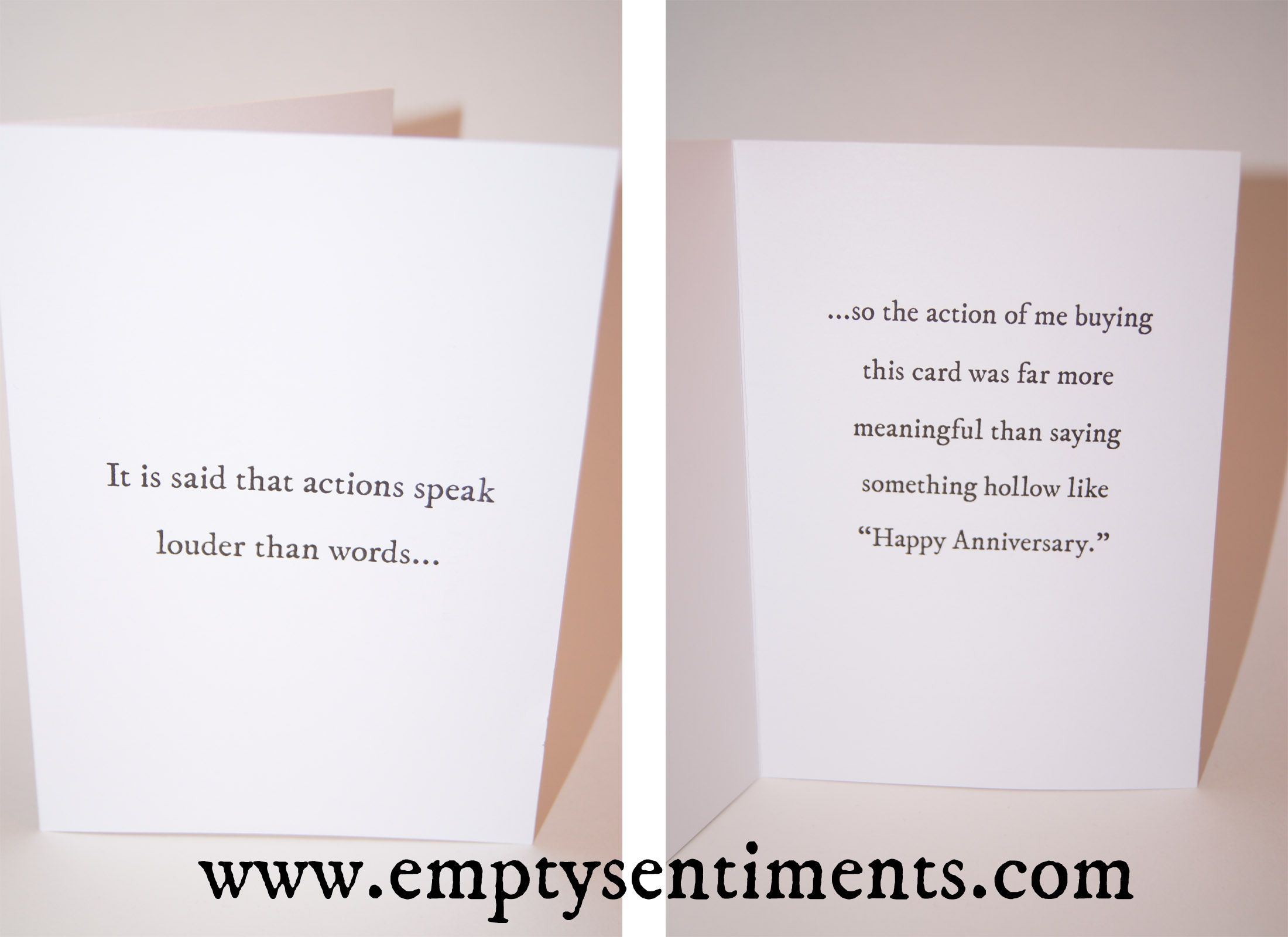 A Sarcastic Anniversary Card By Empty Sentiments A Truly Inspiring