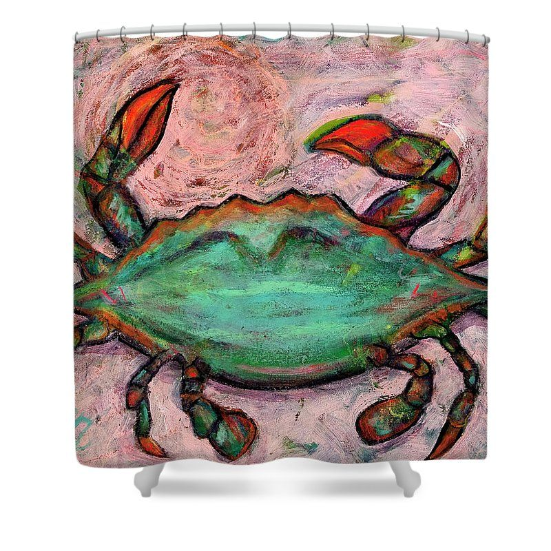 Abstract Crab Shower Curtain For Sale By Ann Lutz Curtains For
