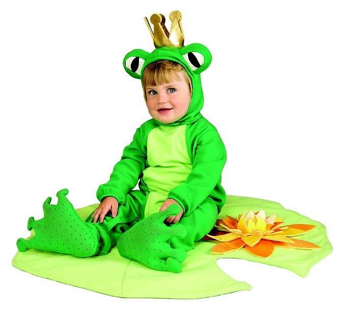 Disfraz de rana príncipe para bebé. Disponible en www.vegaoo.es