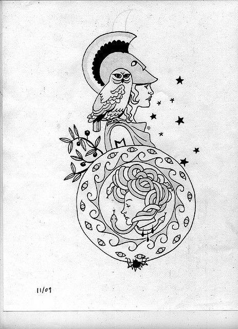 Athena Semi Final Athena Tattoo Mythology Tattoos Greek