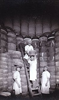 Loading the Chimney Kilns  1930s  at Burleigh Pottery Staffordshire see history on link and their modern productions
