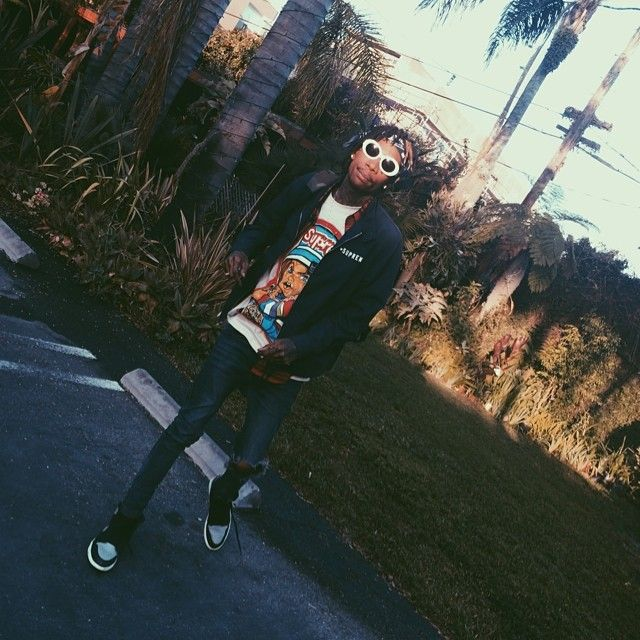 50ffd67a5855 Wiz Khalifa wearing Air Jordan I 1 Shadow