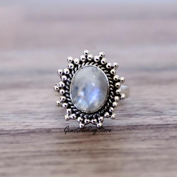 Natural Gemstone Faceted Ring Handmade Making Silver Ring. 925 Starling Silver Ring Very Beautiful Nice Ring For Girls /& Women
