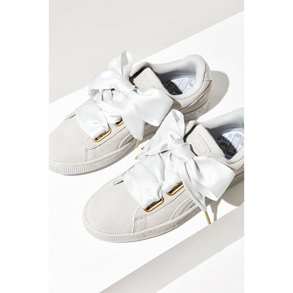 Puma Suede Heart Satin Sneaker ( 80) ❤ liked on Polyvore featuring shoes 2e4da2da7