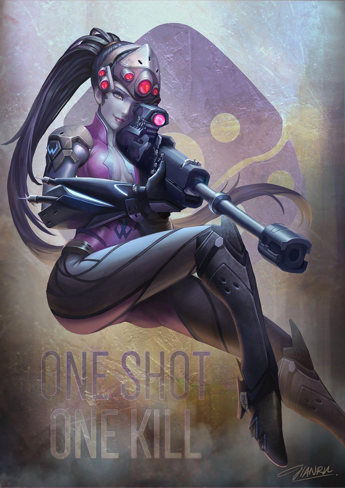 Artstation Widowmaker Overwatch Fanart Jianru Tam Videogames